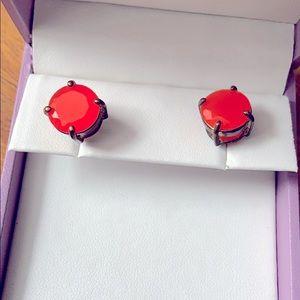 Coral jewel earrings